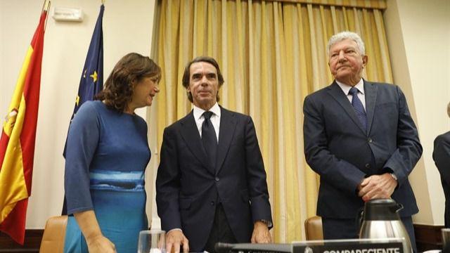 Ex presidente del Gobierno José María Aznar en su comparecencia ante la comisión de investigación sobre la presunta financiación ilegal del PP