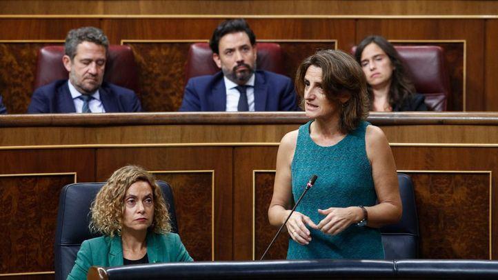 La ministra de Transición Ecológica, Teresa Ribera, durante la sesión de control al Gobierno en el Congreso