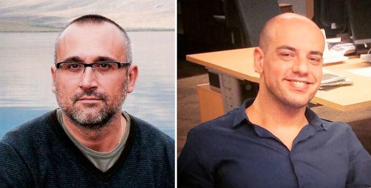 Los periodistas Ferrán Boiza (El Mundo) y Carlos Hidalgo (ABC).