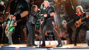 Metallica en concierto.