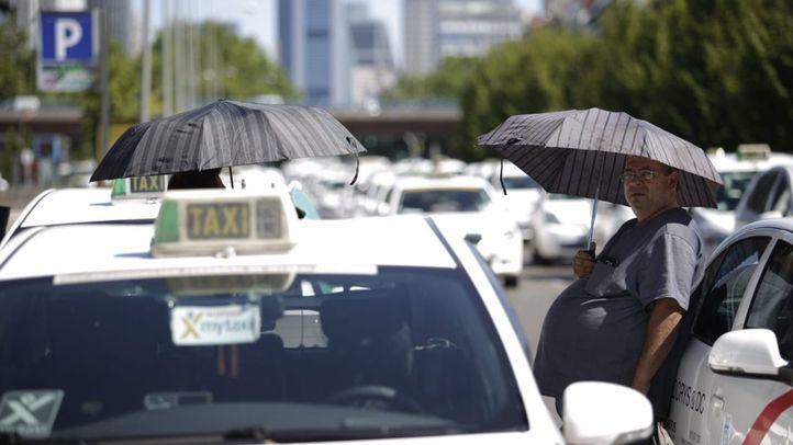Imagen de la última gran movilización de los taxistas el pasado agosto.