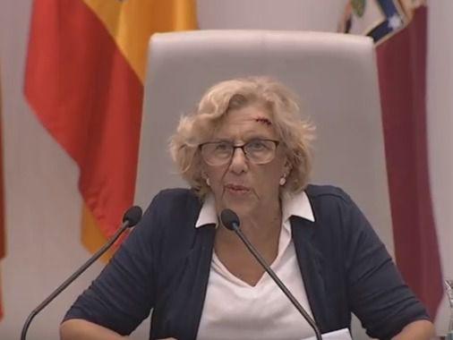 Manuela Carmena, en el Debate sobre el Estado de la Ciudad.