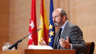 Pedro Rollán, en rueda de prensa tras el Consejo de Gobierno.