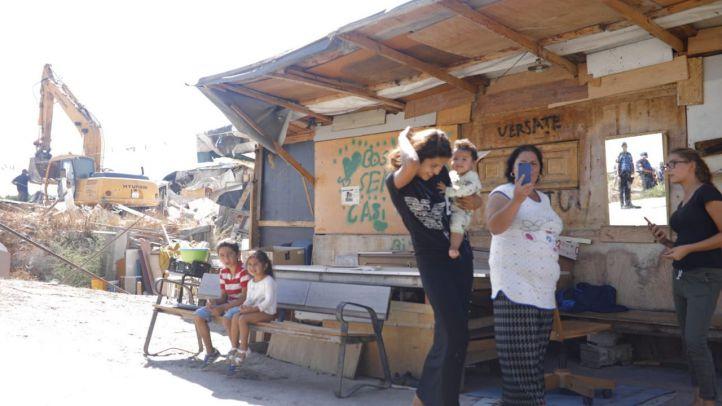 Desmantelamiento del poblado chabolista El Gallinero.