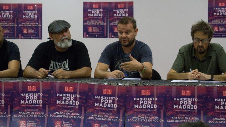 El diputado de Podemos Raúl Camargo presenta el Manifiesto por Madrid.