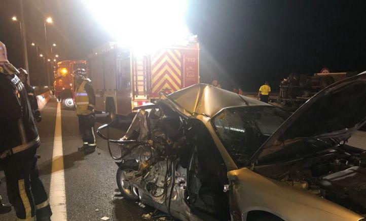 Un niño y dos adultos, heridos en un accidente en Alcalá