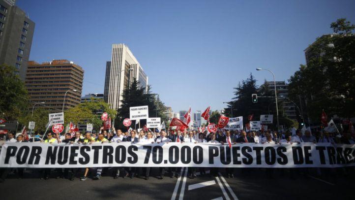 Las VTCs se manifestarán el jueves y el viernes en la Castellana
