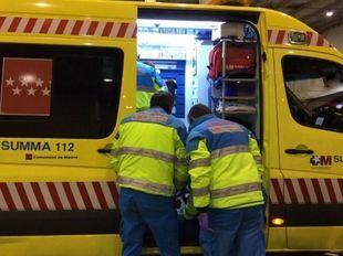 Emergencias atiende a los heridos por el atropello.