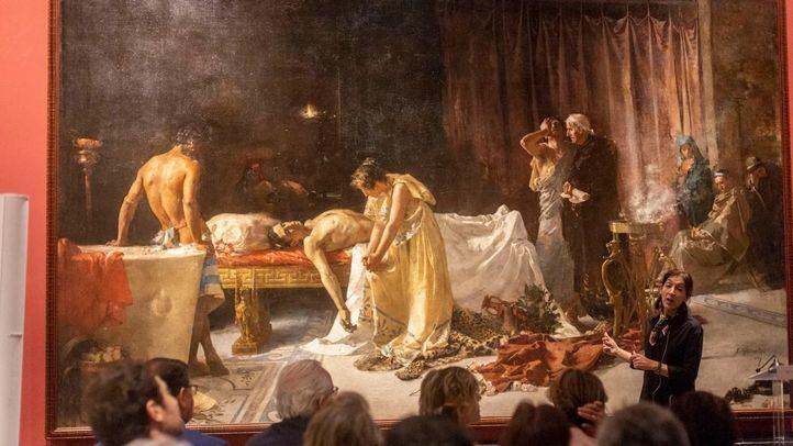 Presentación de la restauración del cuadro 'La muerte de Lucano' de José Garnelo, en el Museo del Prado.