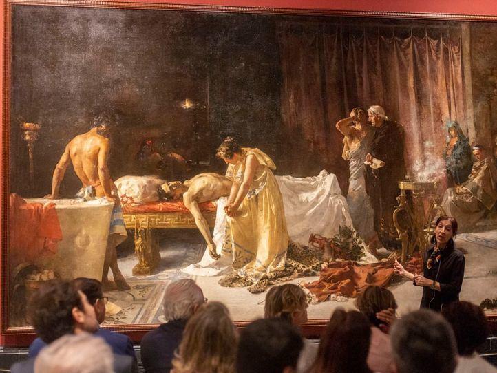La muerte de Lucano renace en los talleres del Prado