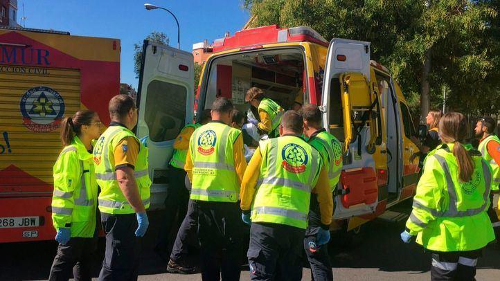 La herida, de 24 años, ha sido trasladada al hospital con un traumatismo pélvico severo.