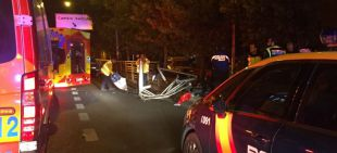 Dos heridos graves en un accidente de moto en el Paseo de Extremadura