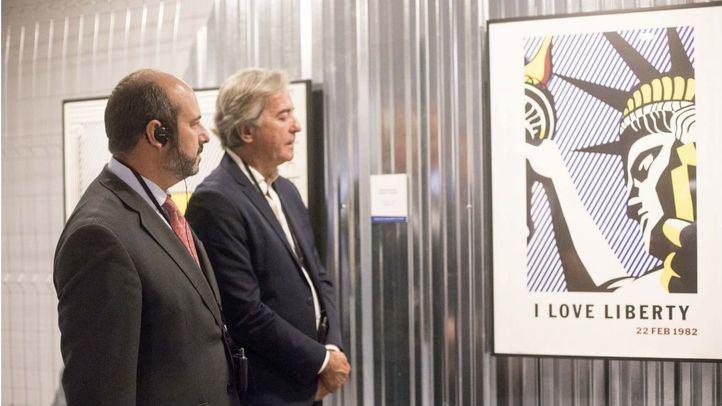 nauguración de la exposición 'Roy Lichtenstein, Posters' en la Fundación Canal.