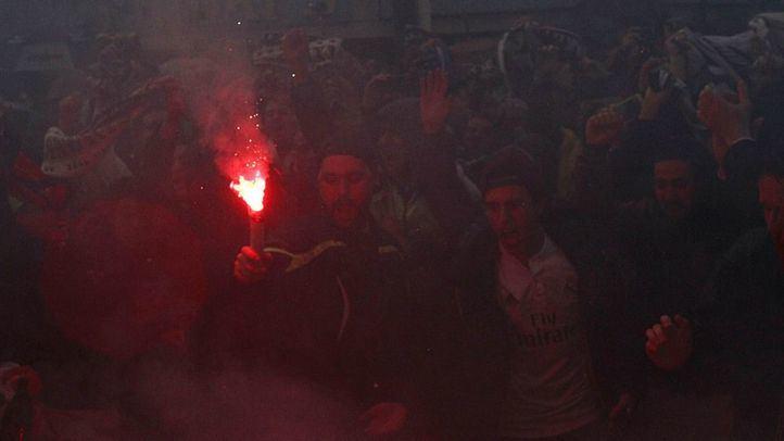 La Policía sorprendió a 27 ultras del Madrid con palos y puños americanos antes del derbi