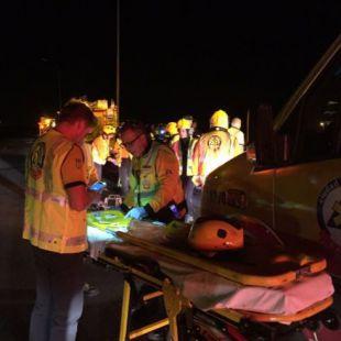 Muere en un accidente en la M-50 tras quedar atrapado
