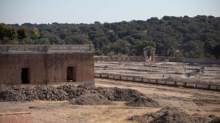 Obras de rehabilitación de las huertas del palacio del infante Don Luis en Boadilla del Monte.