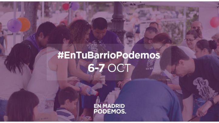 Podemos Madrid recogerá propuestas ciudadanas para mejorar la ciudad