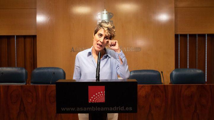Dimisión de la portavoz de Podemos en la Asamblea de Madrid, Lorena Ruiz-Huerta.