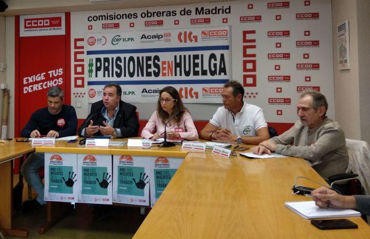 Huelga en prisiones: los trabajadores se encadenarán frente a Interior