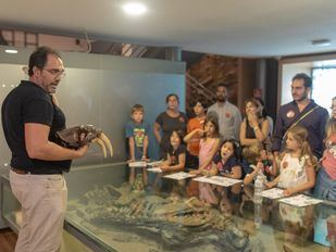 Diferente actividades en el Museo Nacional de Ciencias Naturales.