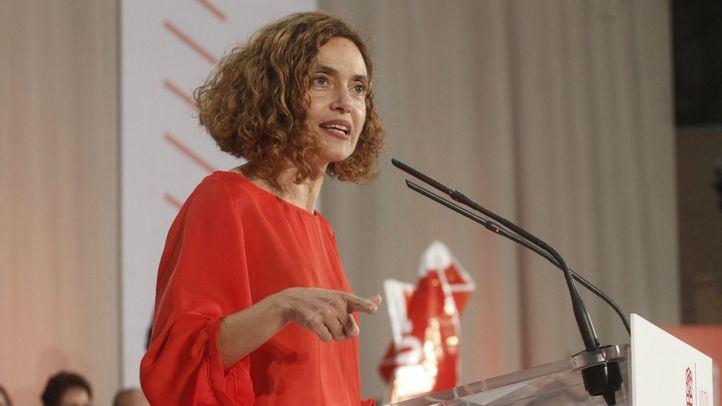 Meritxell Batet en un mítin del PSOE.