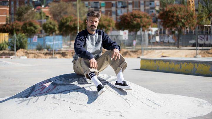 Sergio Jiménez, en el solar del barrio de Campamento.