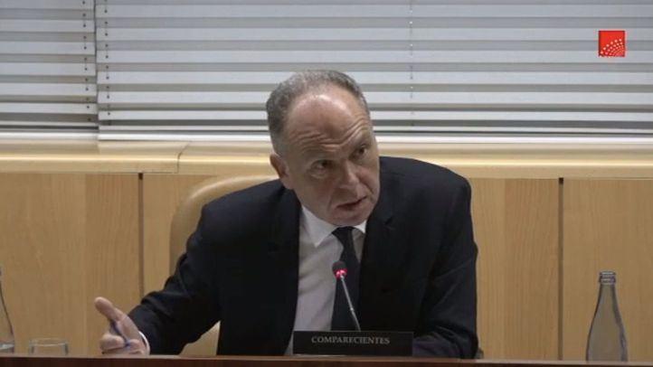 Juan Bravo, compareciente de la comisión de investigación sobre la presencia de amianto en Metro de Madrid.