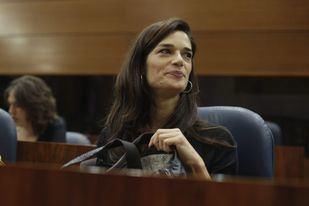 Clara Serra, en su primer Pleno como portavoz 'transitoria' de Podemos.