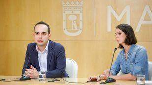 José Manuel Calvo y Rita Maestre, tras la Junta de Gobierno de este jueves.