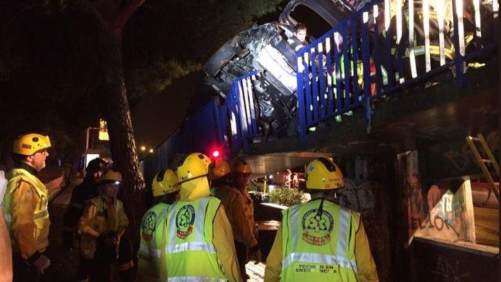 Los Bomberos del Ayuntamiento de Madrid han llevado a cabo en el lugar del incidente un laborioso rescate de más de 40 minutos