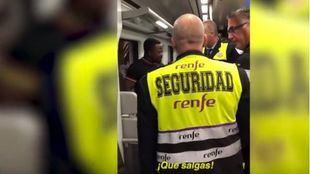 Vigilantes de Atocha, a un pasajero negro: