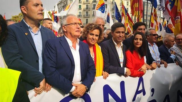La Guardia Urbana de Barcelona ha cifrado en 65.000 personas los asistentes, una cifra que los organizadores elevan hasta 300.000