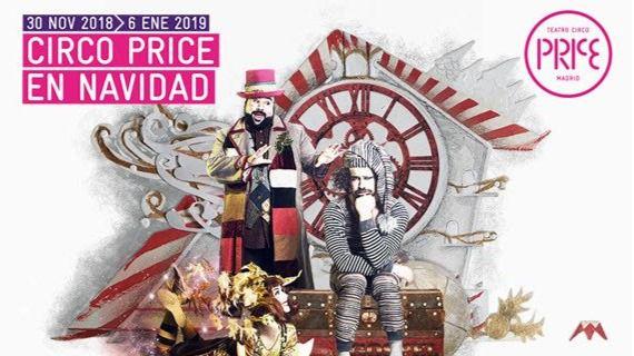 Cartel para la Navidad en el Circo Price.