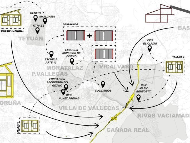 El Ayuntamiento presenta su centro sociocomunitario para la 'nueva' Cañada Real