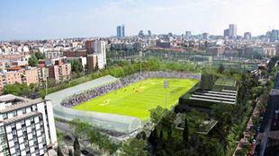 Recreación del futuro Estadio de Vallehermoso.
