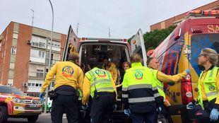 El siniestro ha ocurrido sobre las 11.30 horas de este lunes en la calle Cardenal Herrera Oria, a la altura de la calle Pico Balatius.