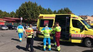 Los servicios de emergencias en Boadilla del Monte.