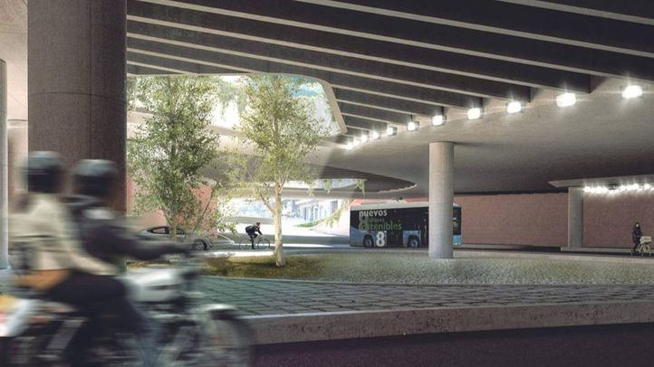 Recreación del proyecto ganador para la remodelación de la plaza de España.