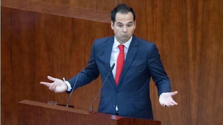 El portavoz de Ciudadanos en la Asamblea de Madrid, Ignacio Aguado, interviene en el Debate del Estado de la Región.