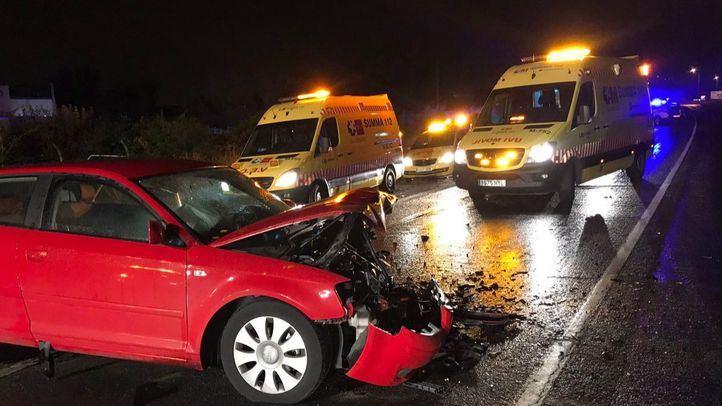 Coche afectado por el accidente en Mejorada.