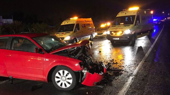 Un choque frontal entre turismos deja tres heridos en Mejorada del Campo