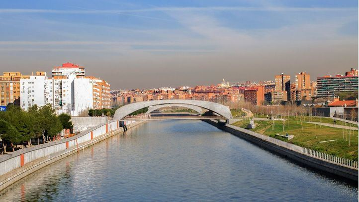 Contaminación en Madrid, vista desde Madrid Río.