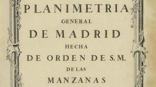 Planimetría General de Madrid.