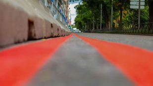 Líneas rojas que delimitan el área Madrid Central.