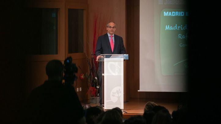 El consejero de Educación de la Comunidad de Madrid, durante su intervención.