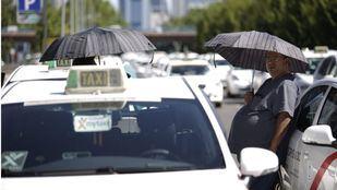 Taxi en la Castellana.
