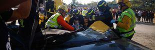 Así actúan los servicios de emergencias ante un accidente