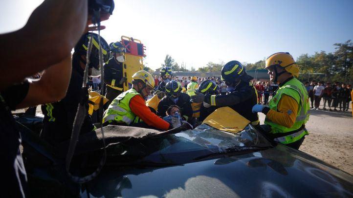 Simulacro de accidente de tráfico en Rivas-Vaciamadrid.