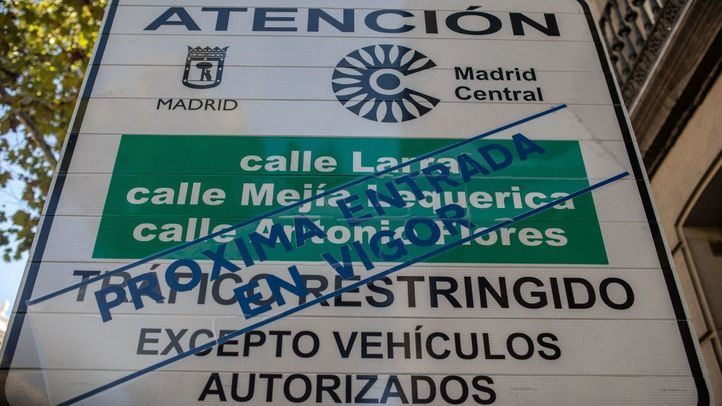 Según el Ayuntamiento, habrá multas en Madrid Central antes de las elecciones.