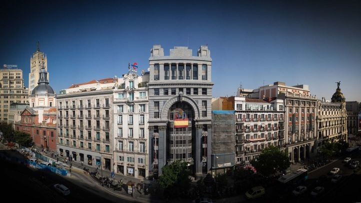 Banco Mercantil e Industrial, actual Consejeria de Cultura de la Comunidad de Madrid y sala de exposiciones conocida como Alcalá 31.